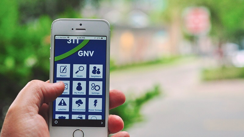 Report a problem with Gainesville 311